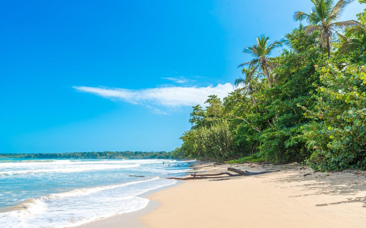 Plage du parc national de Cahuita au Costa Rica