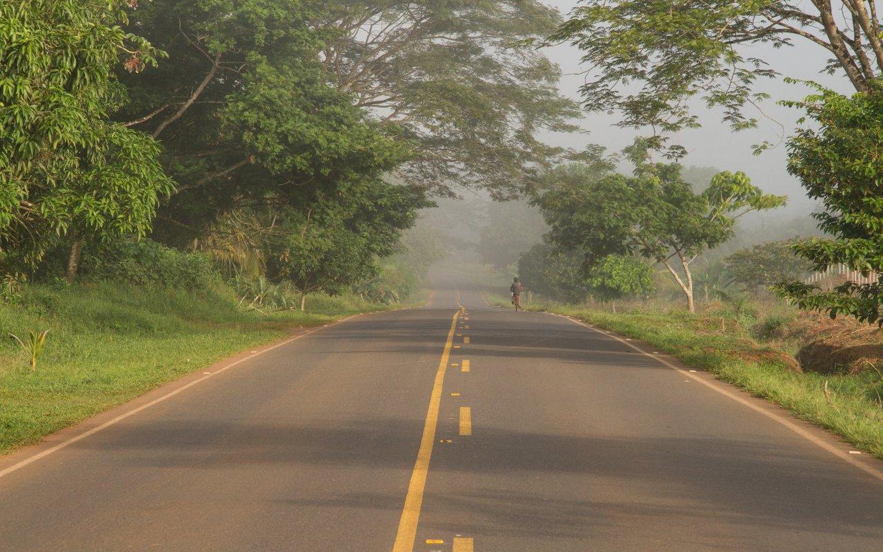 Route de Cano Negro au Costa Rica