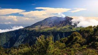 Volcan de Turrialba au Costa Rica