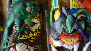 Boruca,masque traditionnel du Costa Rica