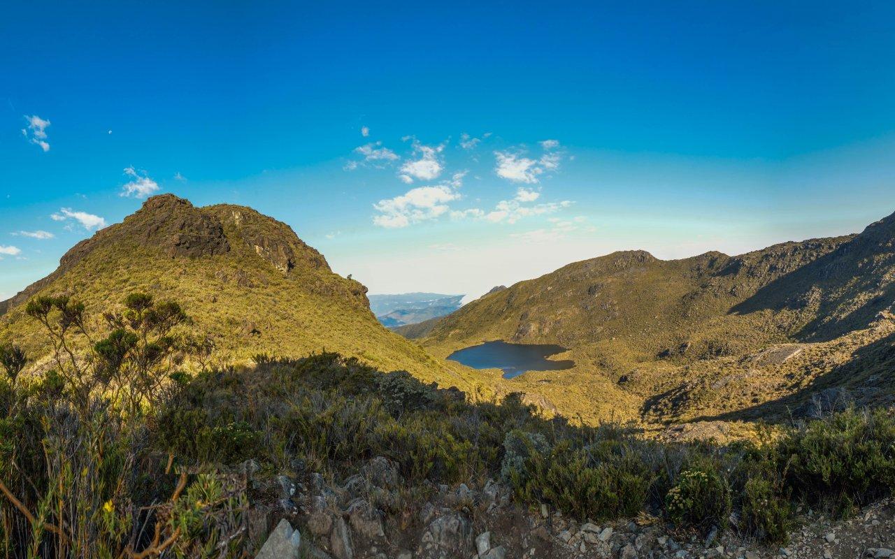 Vue panoramique de Chirripó au parc national de San Juan au Costa Rica